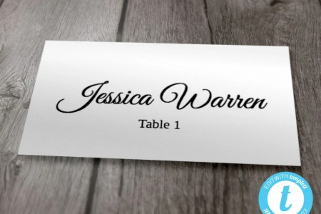 Wedding Place Card Template Flat Style Place Cards Printable   Etsy image 0