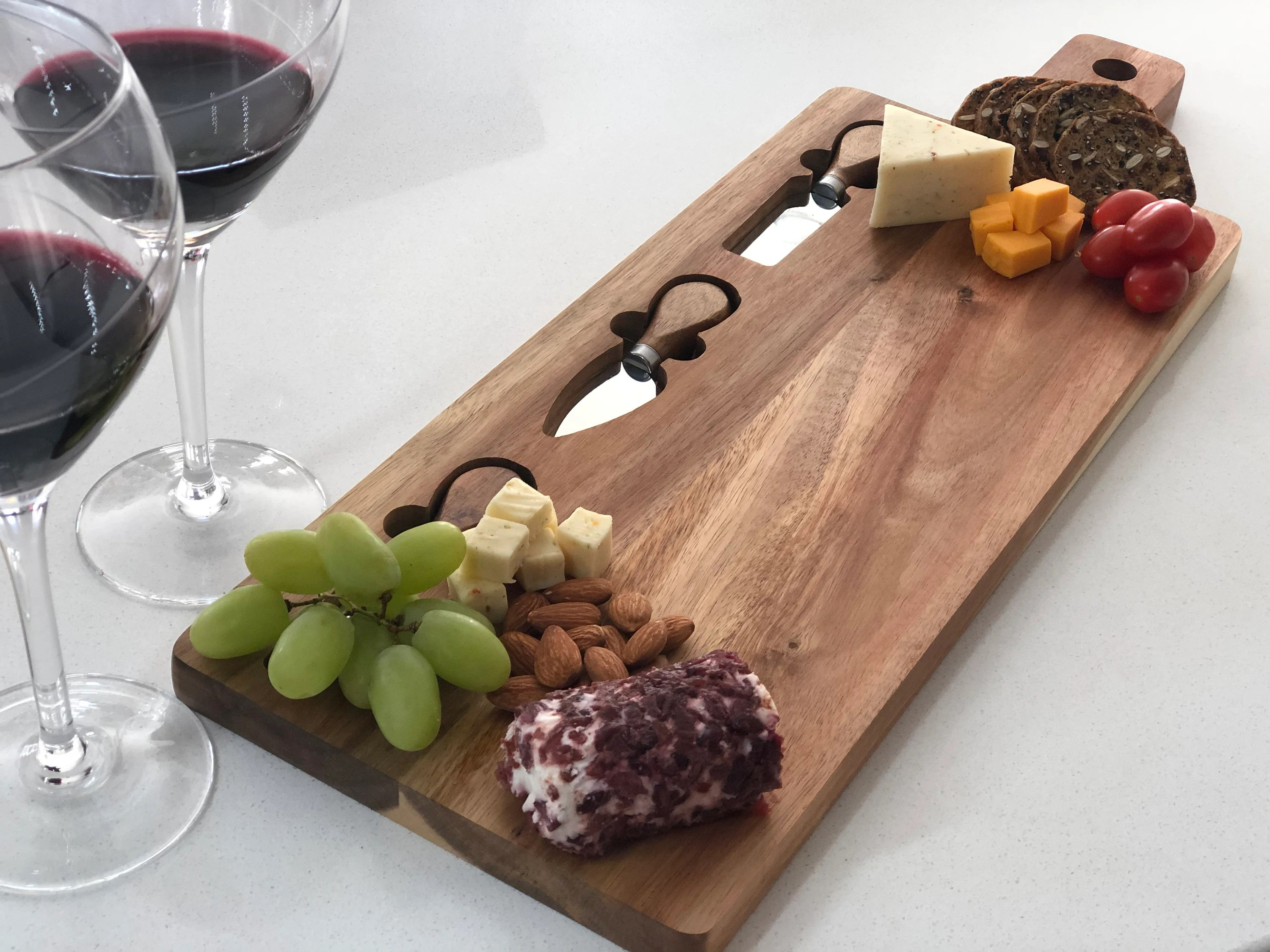 Personalized Cheese Board Cheese board with tools image 4