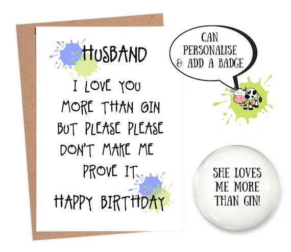 Birthday Card Funny Husband