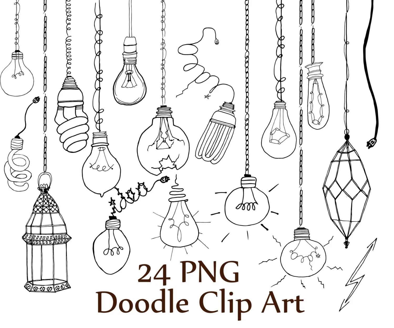 Lightbulb Doodle Clipart Doodle Clip Art Light
