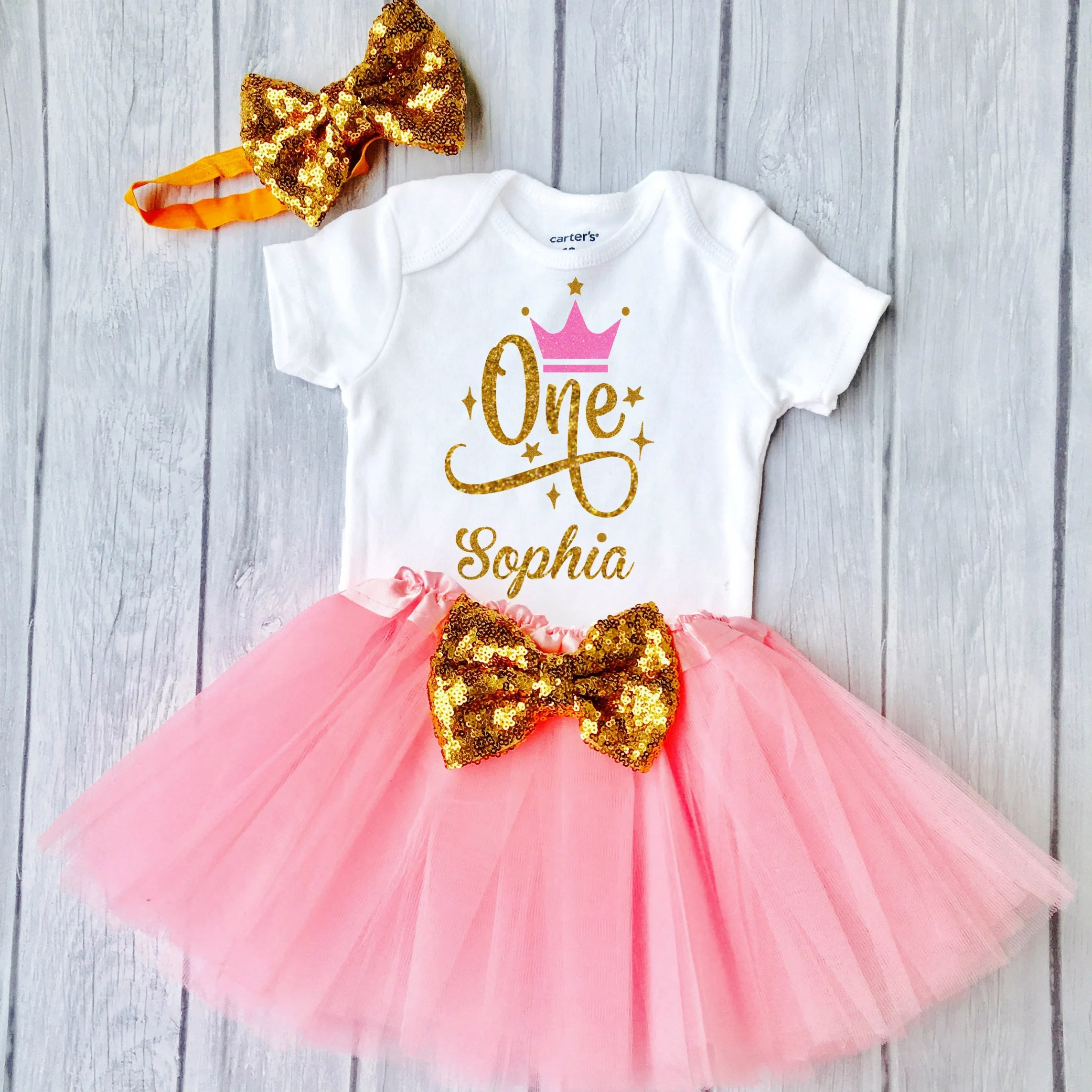 Baby Girl 1st Birthday Outfit First Birthday Girl Outfit 1st Etsy