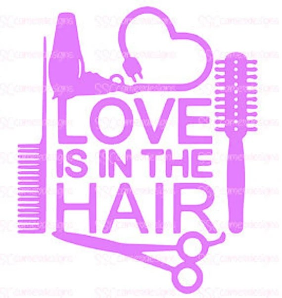 Download Love is in the hair SVG PNG File   Etsy