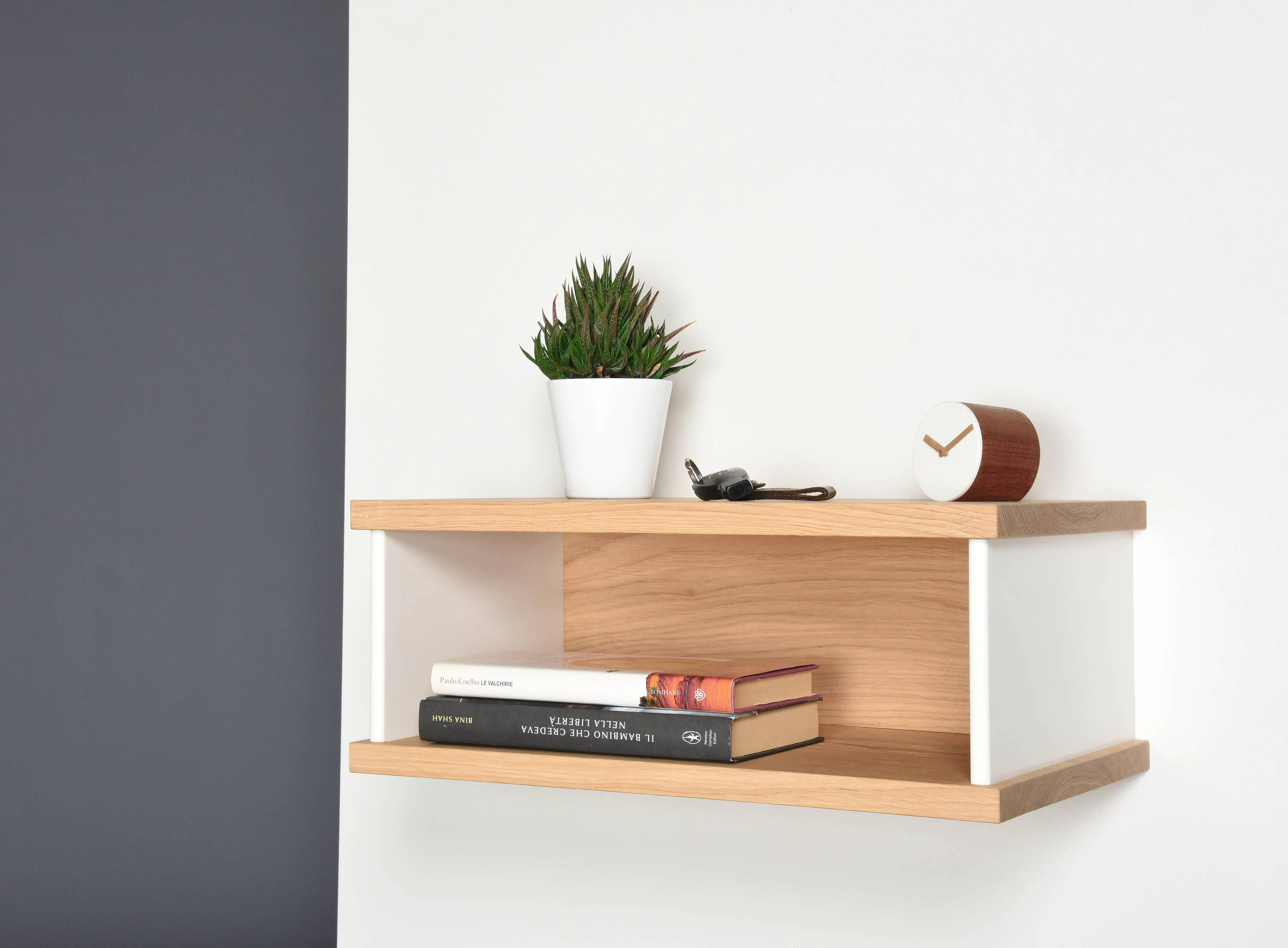 Floating Bedside Tables In Oak And Corian Bedside