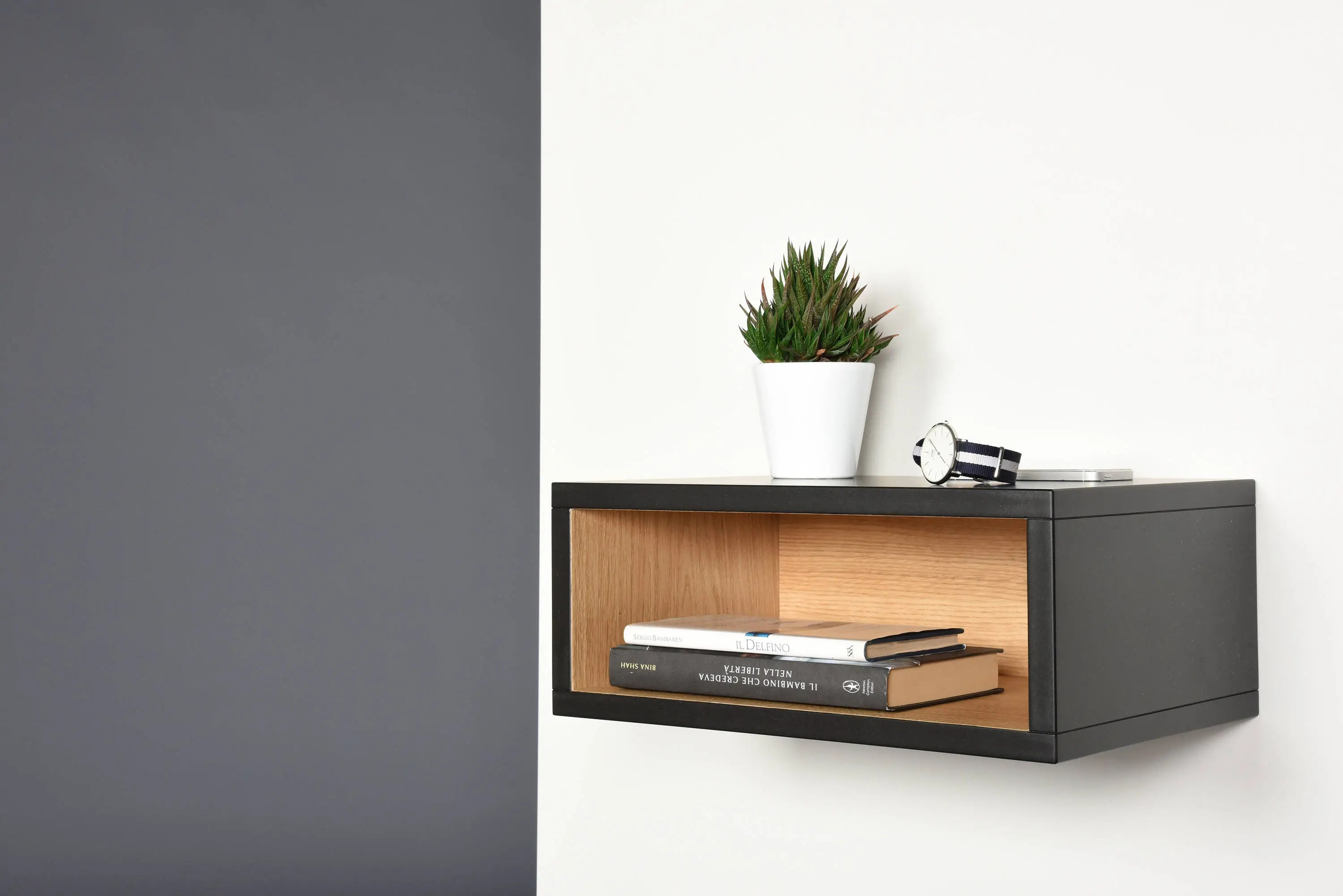 Open Floating Nightstand Hall Floating Table Entryway