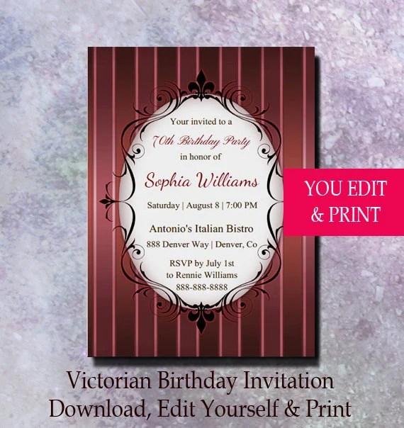 70th birthday invitation 70th birthday