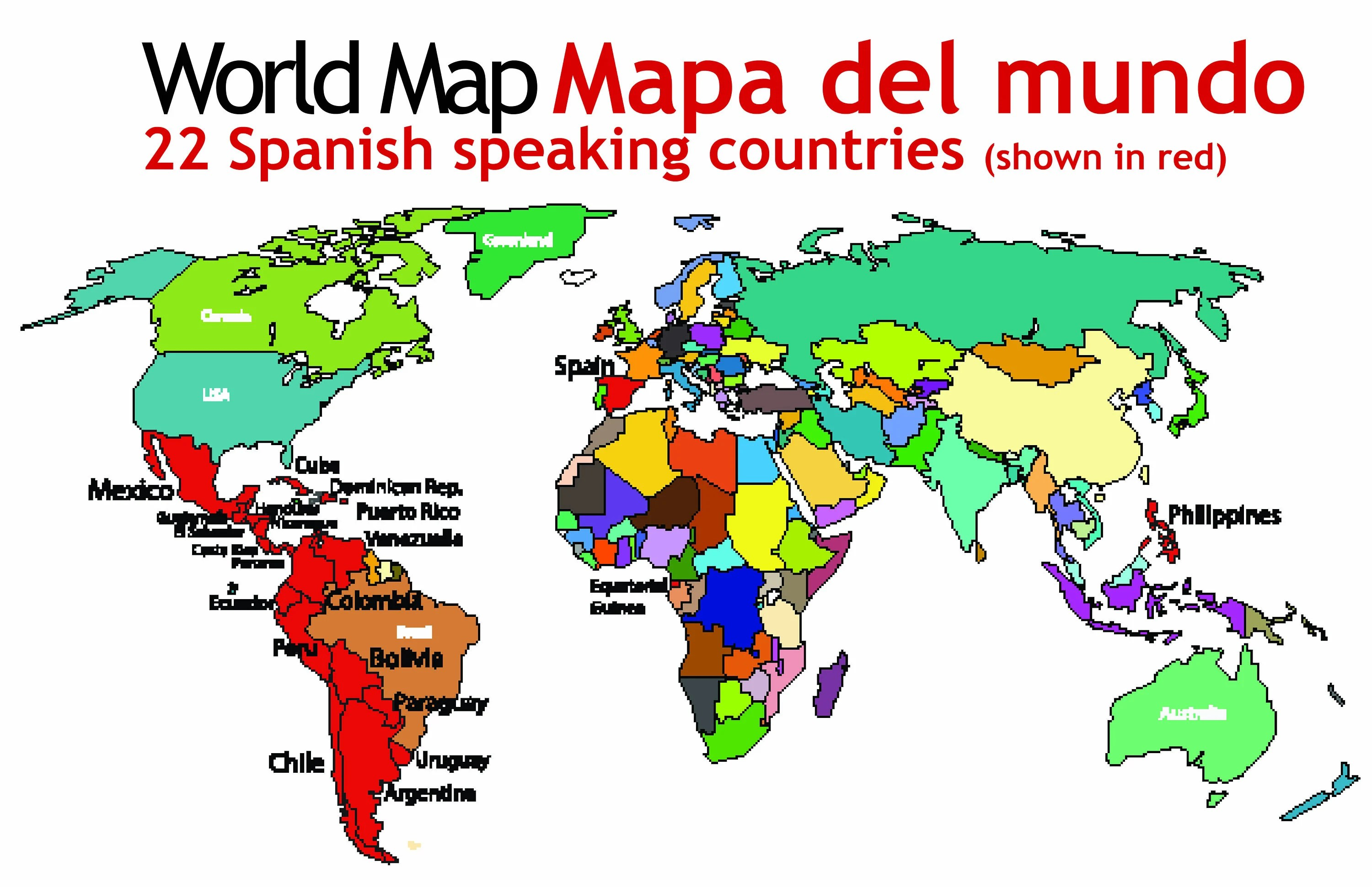 Spanish Speaking Countries Map Spanish Classroom Materials