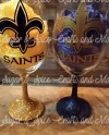 Geaux Saints Wine Glass Etsy