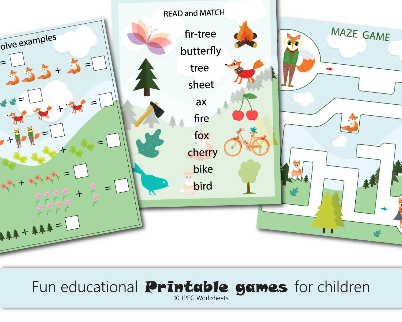 Fun Kids Printables Games Kids Games Preschool Science