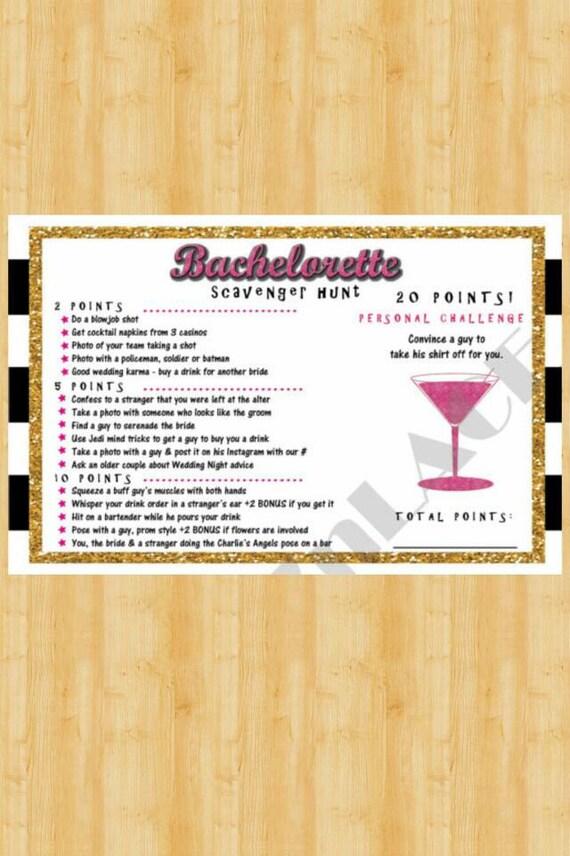 Custom Bachelorette Scavenger Hunt Vegas Scavenger Hunt 21st Etsy