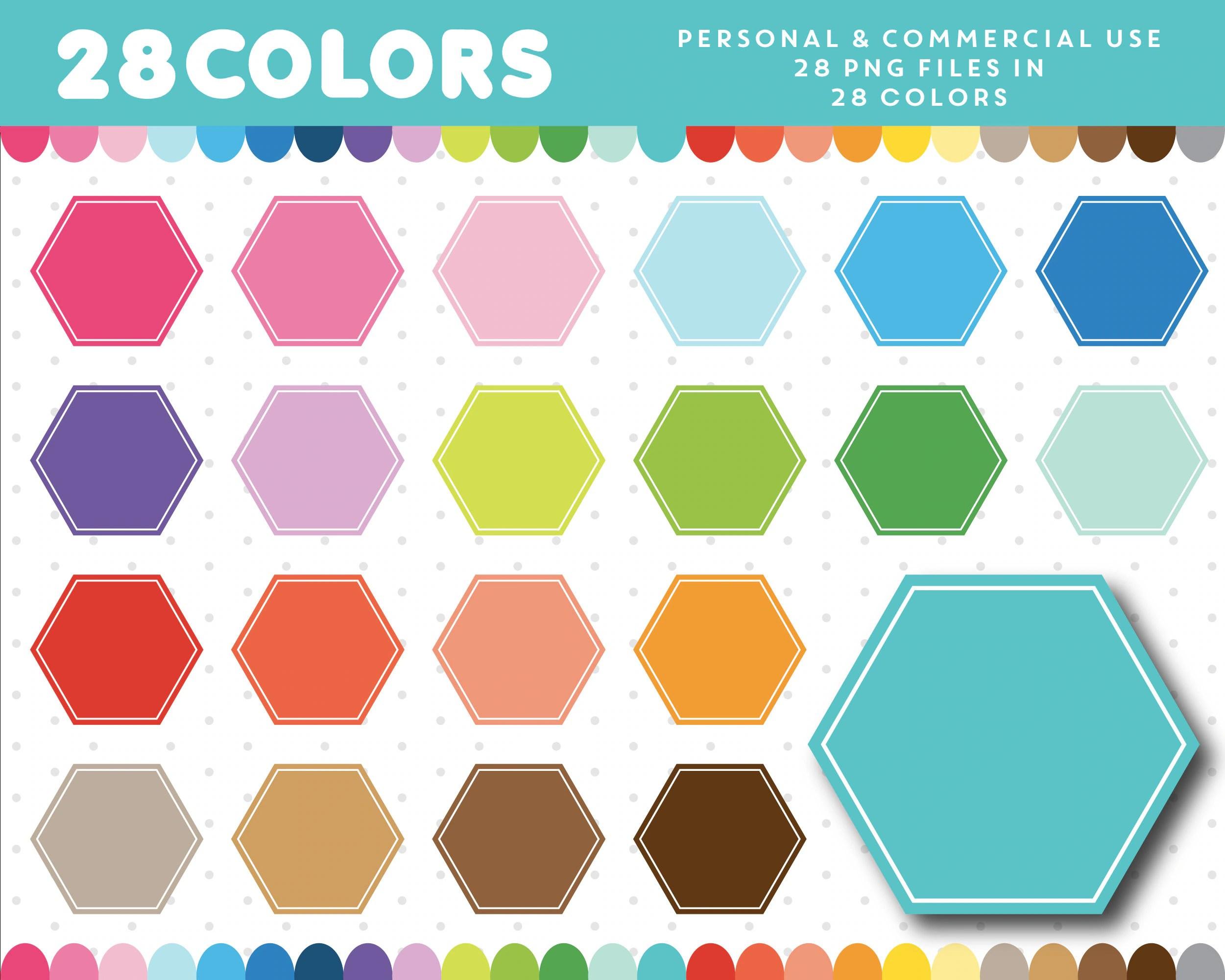 Hexagon Clipart Octagon Clipart Shapes Clipart Geometric