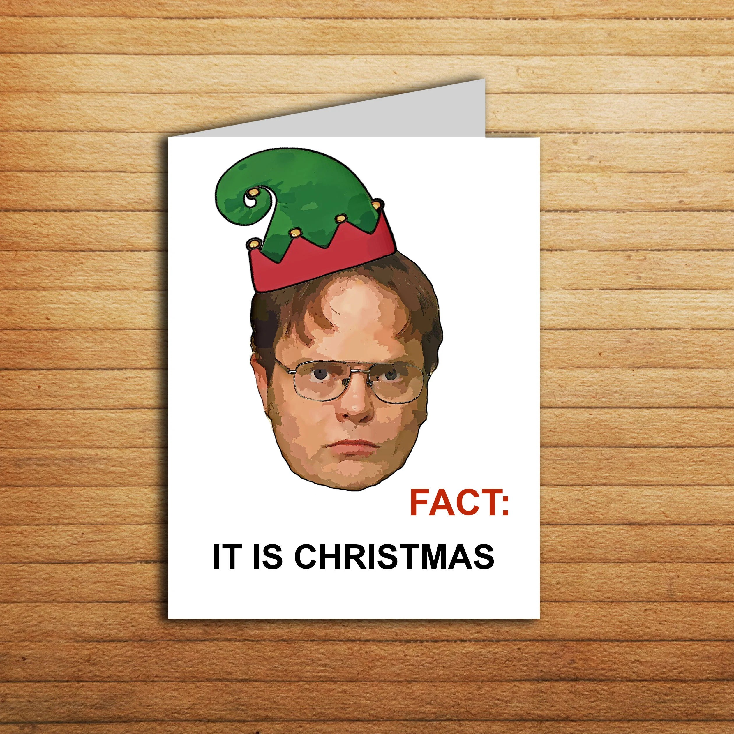 The Office Christmas Card Funny Dwight Schrute Card Fact