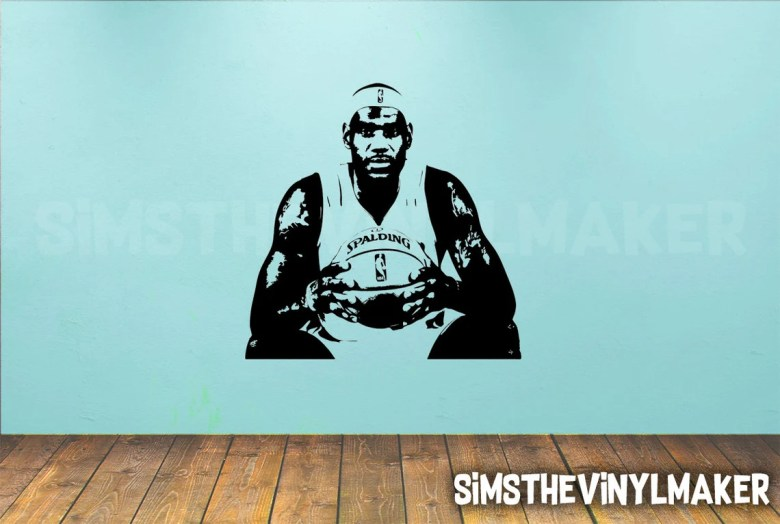LeBron James Wall Decal by SimsTheVinylMaker