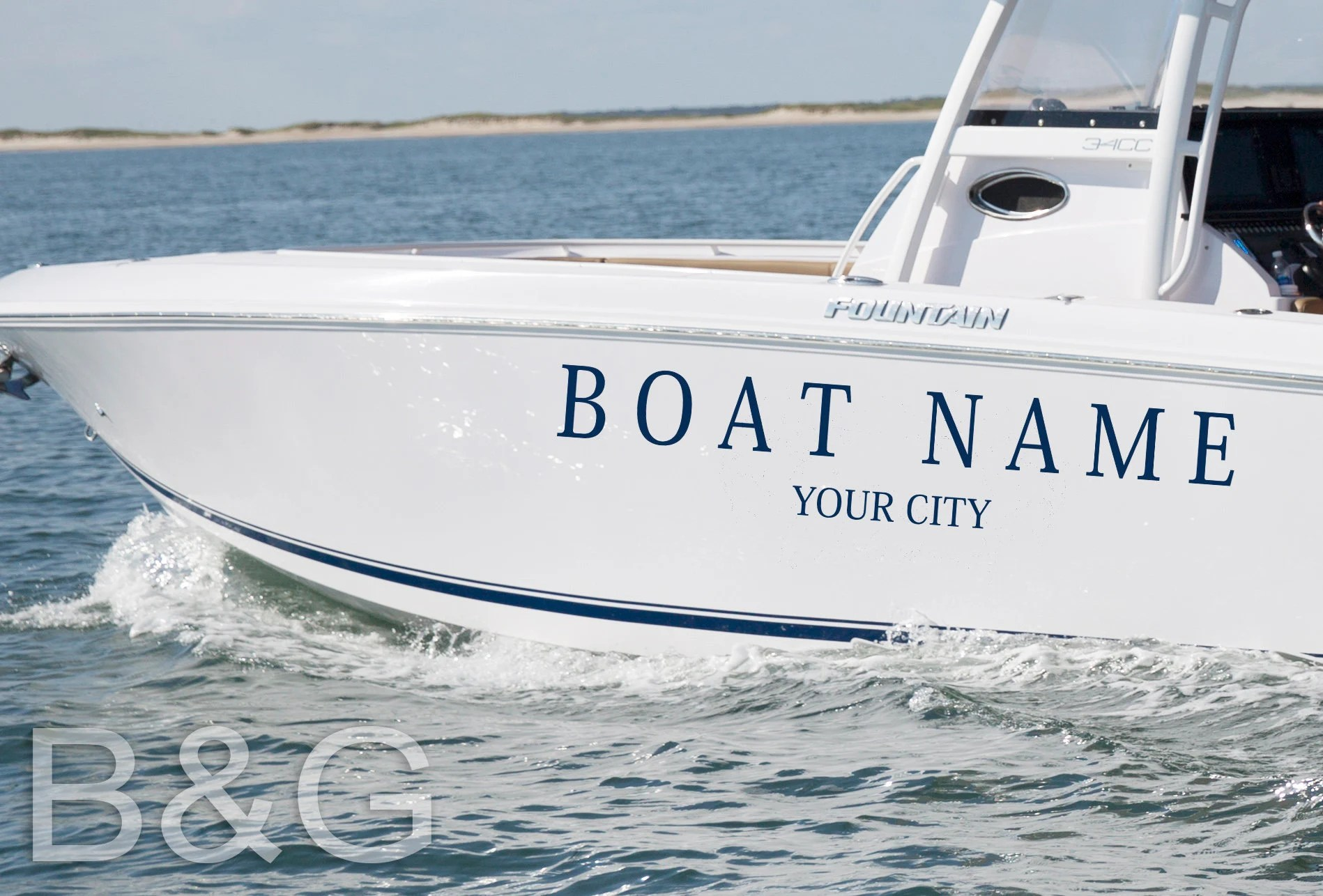 Custom Boat Name Decal  Boat name Personalized Decals  image 2