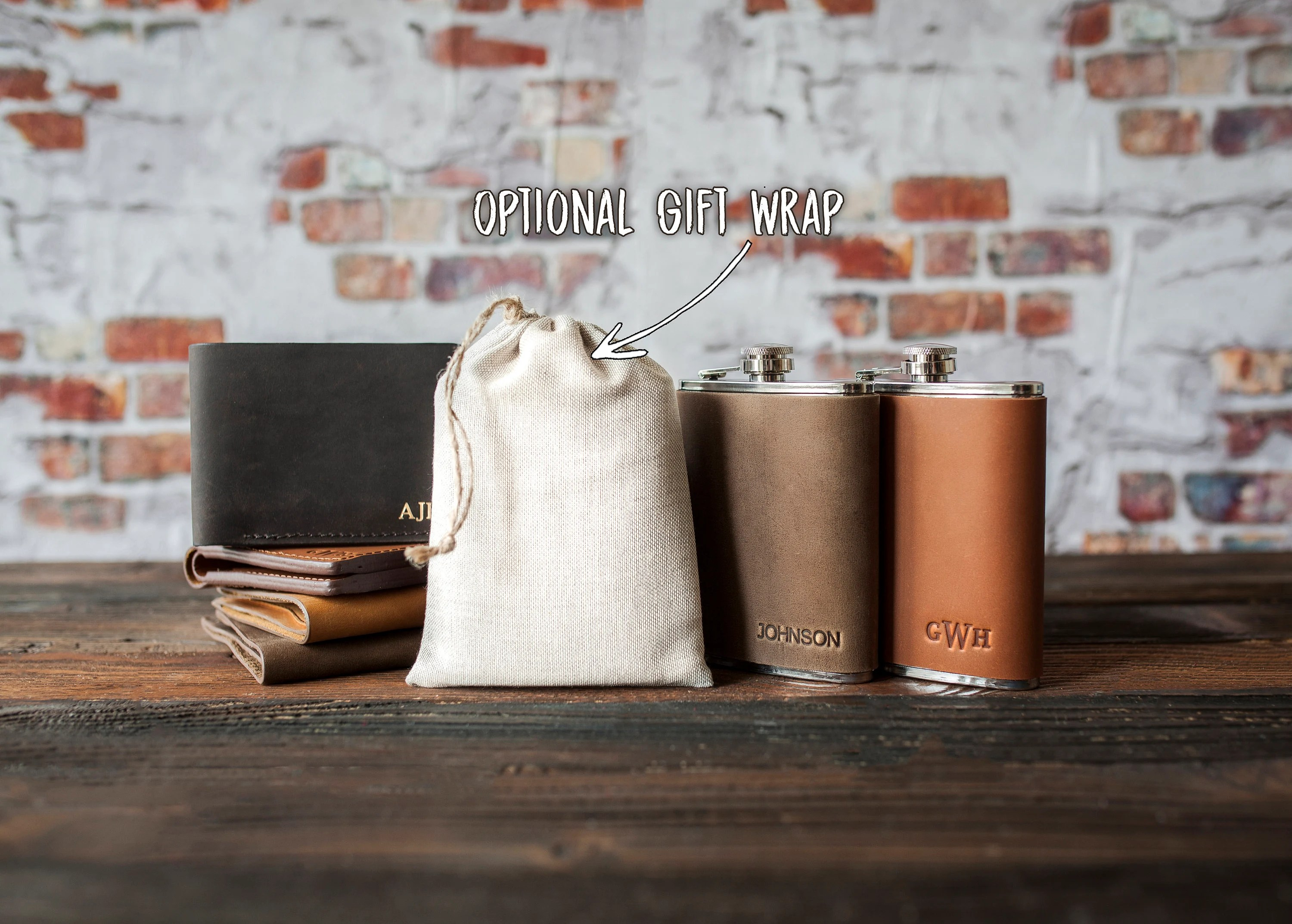 Leather hip flask personalized Leather flask for men image 2