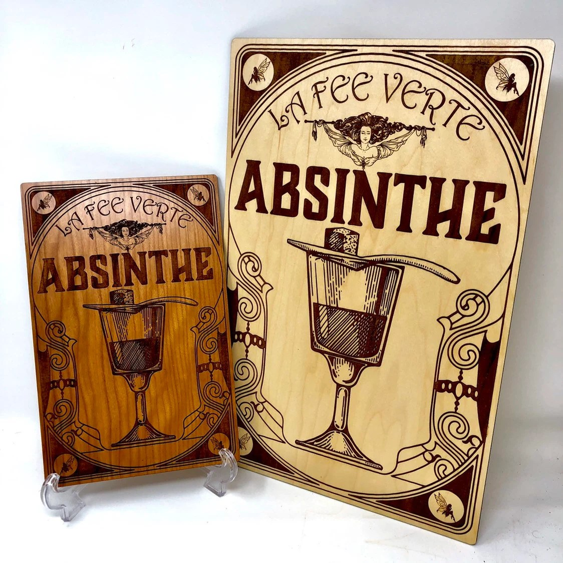 Vintage French Absinthe Ad La Fee Verte Wall Art The Green Fairy Free Shipping