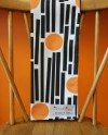 Tea Towel In Black Orange Grey Graphic Midcentury Modern Etsy