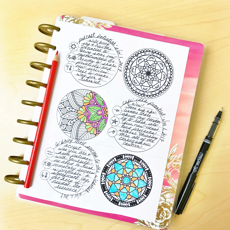 3 Card Tarot Journaling Sheet Printable
