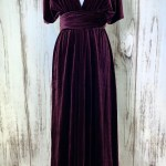 Plum Velvet Infinity Dress Bridesmaids Dress Convertible Dress Multiway Dress Multiway Wrap Dress Velvet Bridesmaids Dress