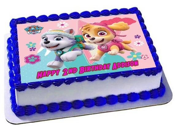 Edible Cake Topper Or Cupcake Topper Paw Patrol Skye Nr1 Decor Party Supplies Home Garden