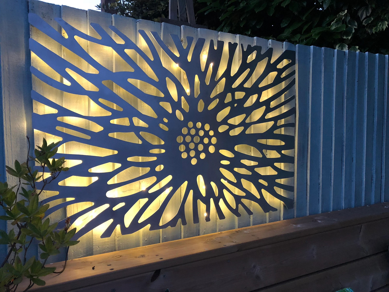 Laser Cut Decorative Metal Wall Art Panel Sculpture For