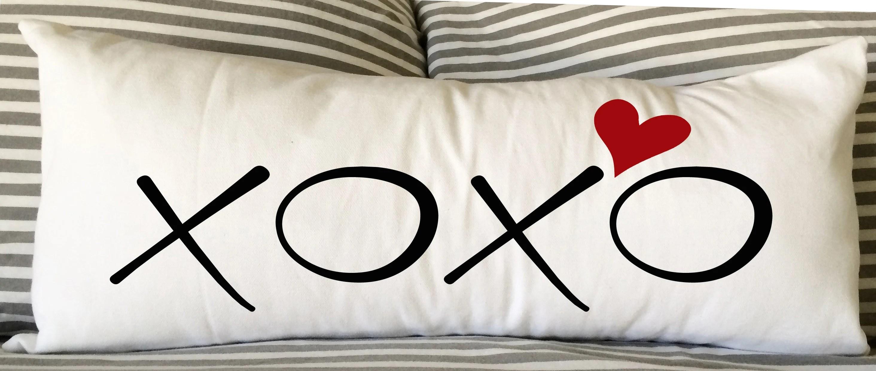 xoxo pillow etsy