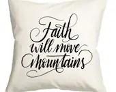 Faith will move mountains...