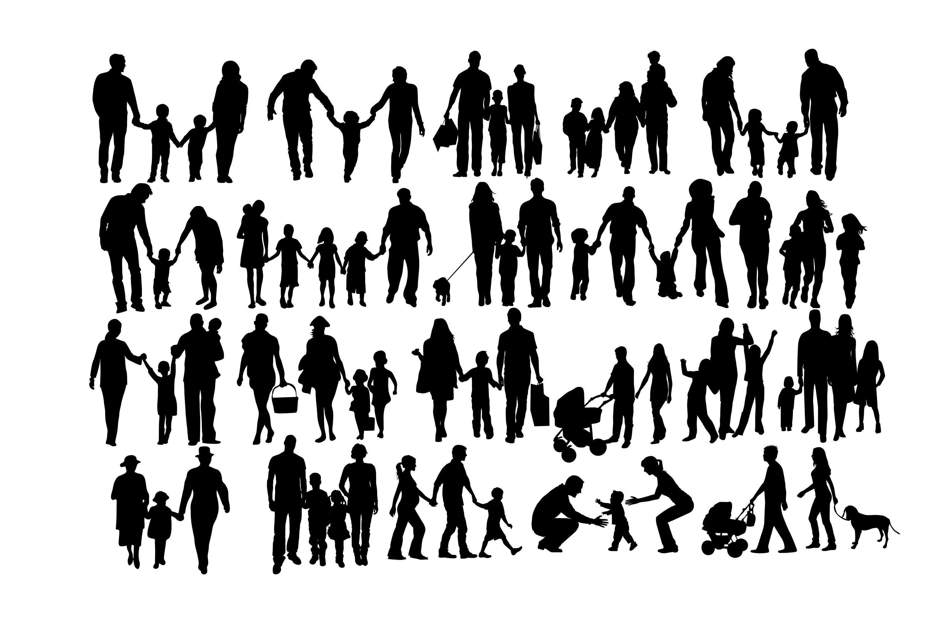 Family Silhouette Family Clipart Families Svg Couple Svg