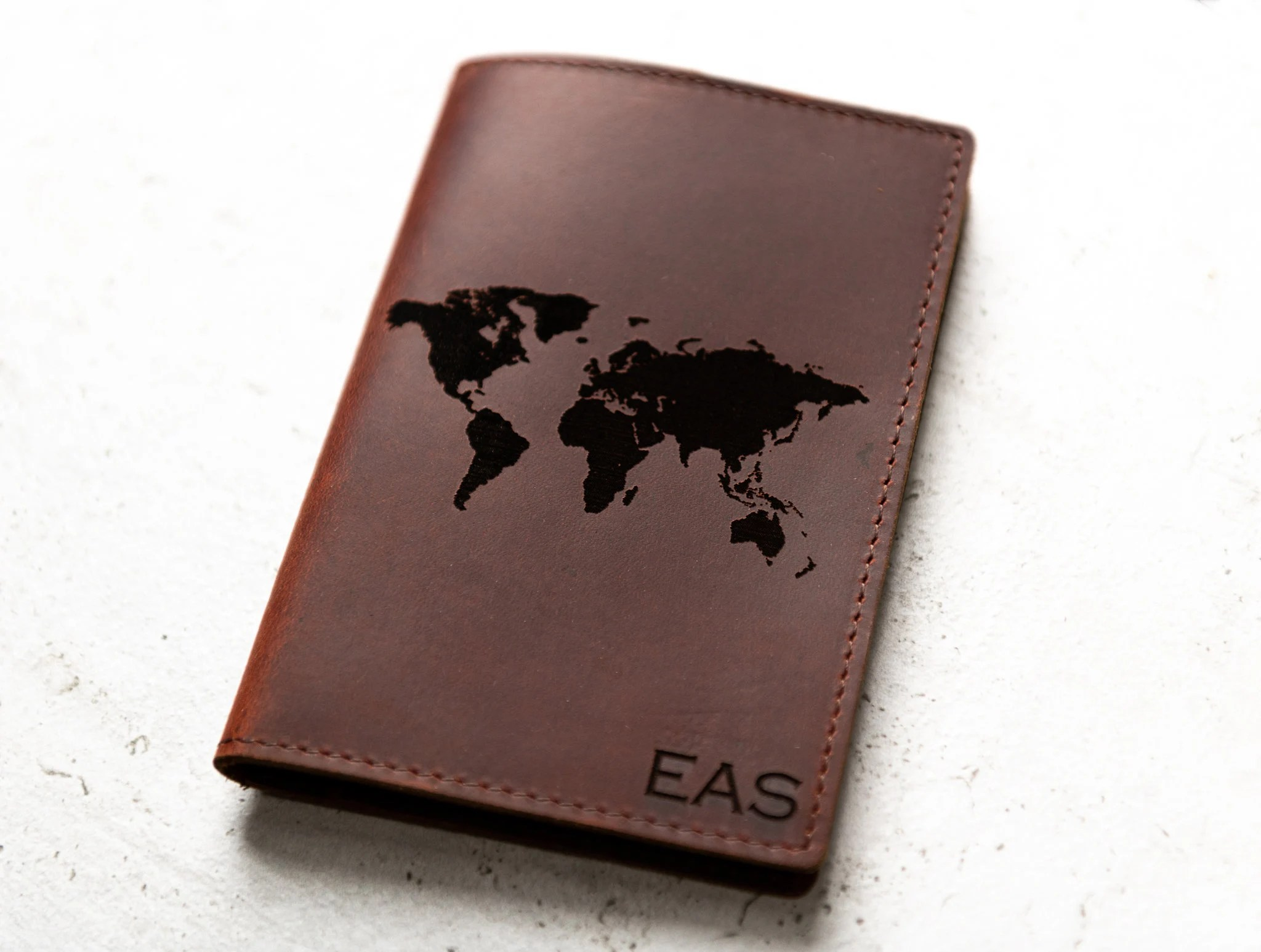 Personalized Leather Passport Cover Holder by Left Coast image 4