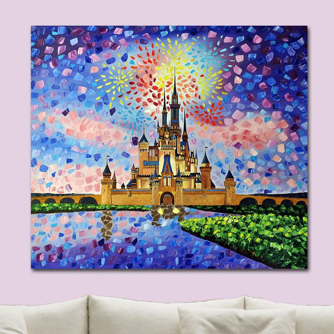 Print Cinderella S Castle Walt Disney World Original Art