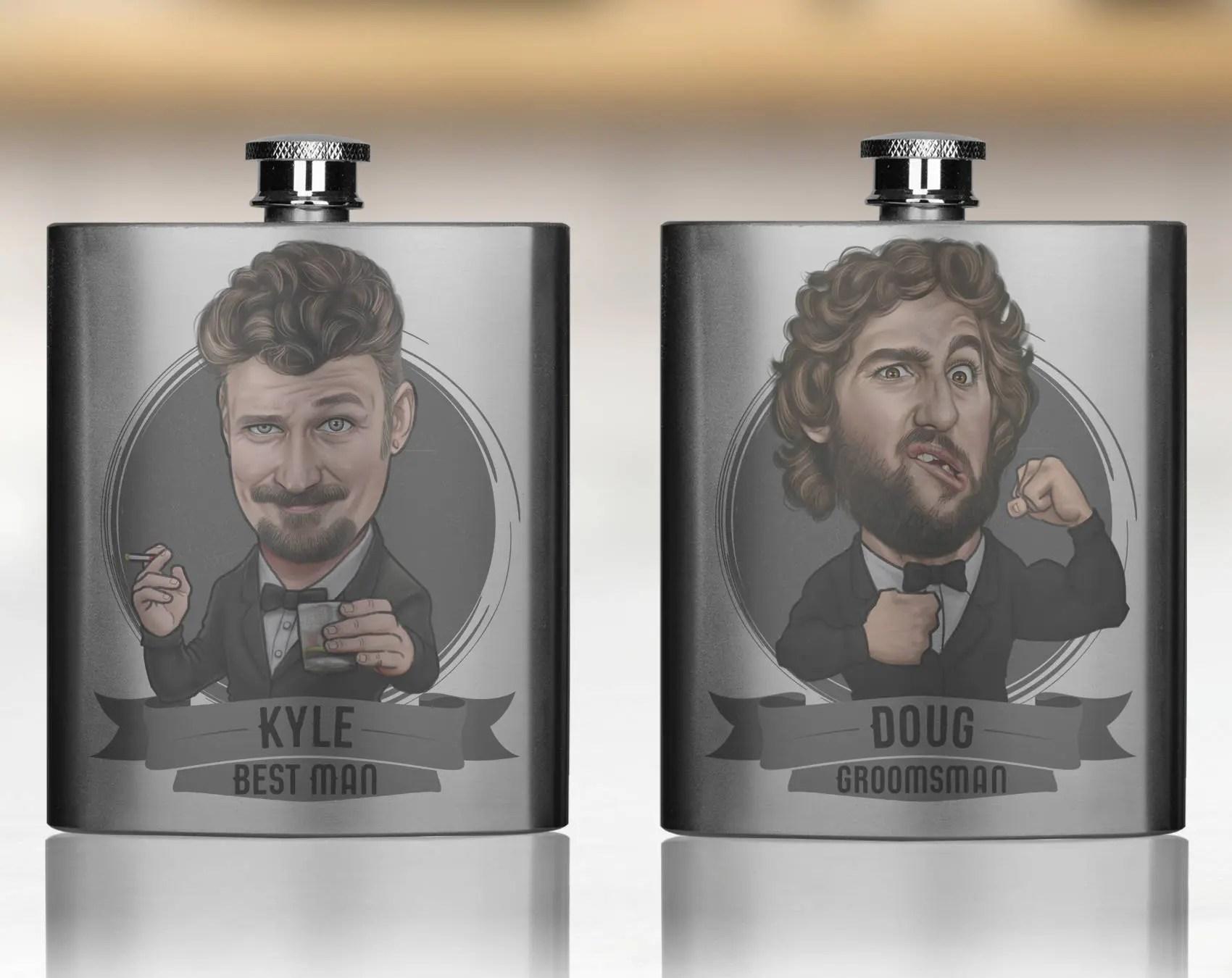 zAzdzzzzz                                                                                                                                                                                    Groomsmen Gift, Groomsmen Flasks, Groomsmen Gifts, Personalized Groomsmen Flasks, Custom Flasks, Flask For Groomsmen, Groomsman Gift                                                                    ToonedUpGifts                               5 out of 5 stars                                                                                                                                                                                                                                                          (5,503)                                                      CA$54.24                                                              Bestseller