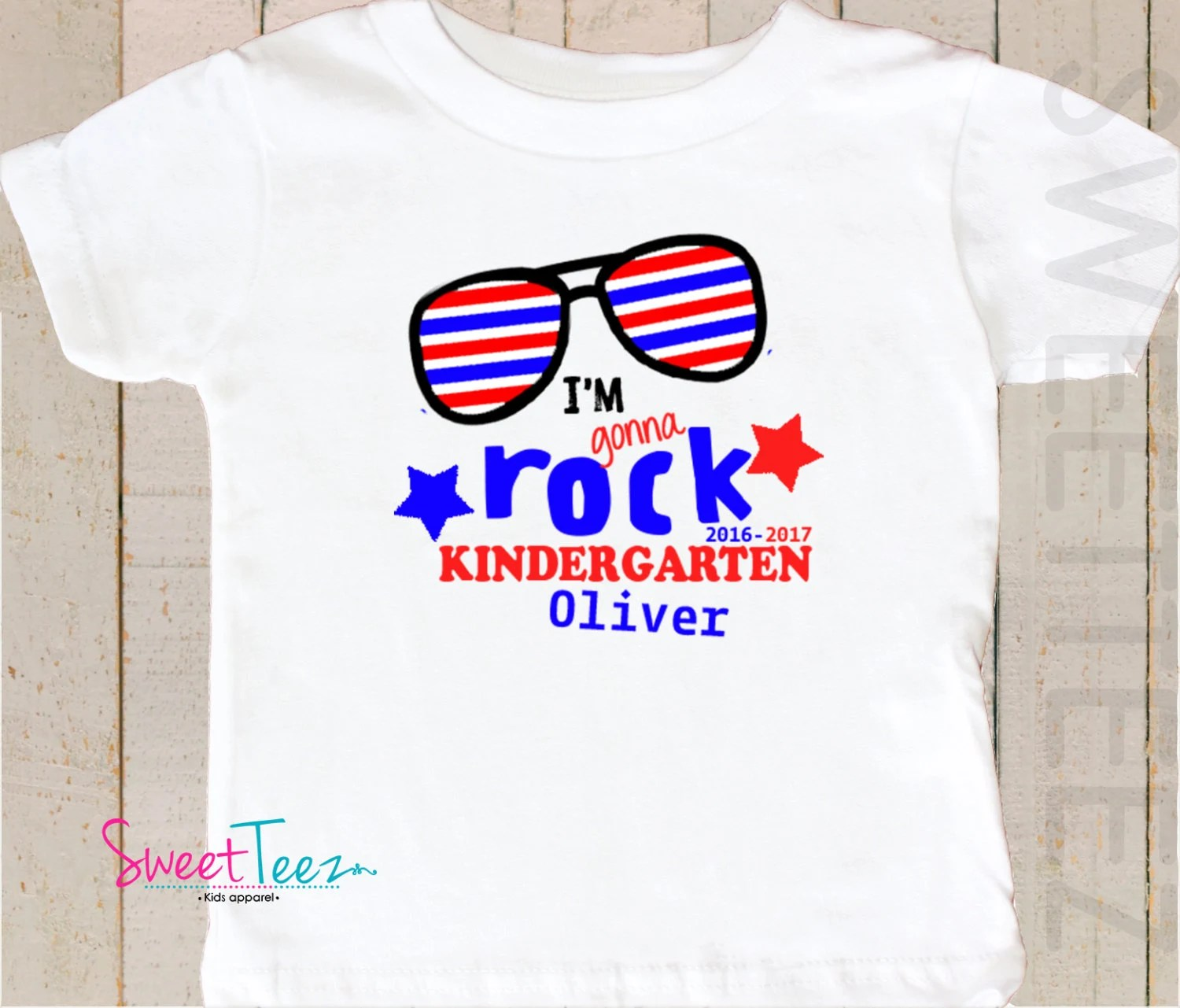 Kindergarten Shirt Kids Shirt I M Gonna Rock Kindergarten