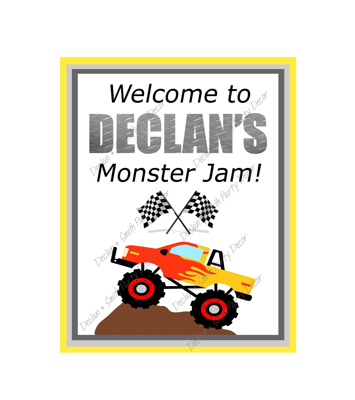 monster truck birthday decorations monster trucks monster truck party signs monster truck rally monster truck printable trucks printables