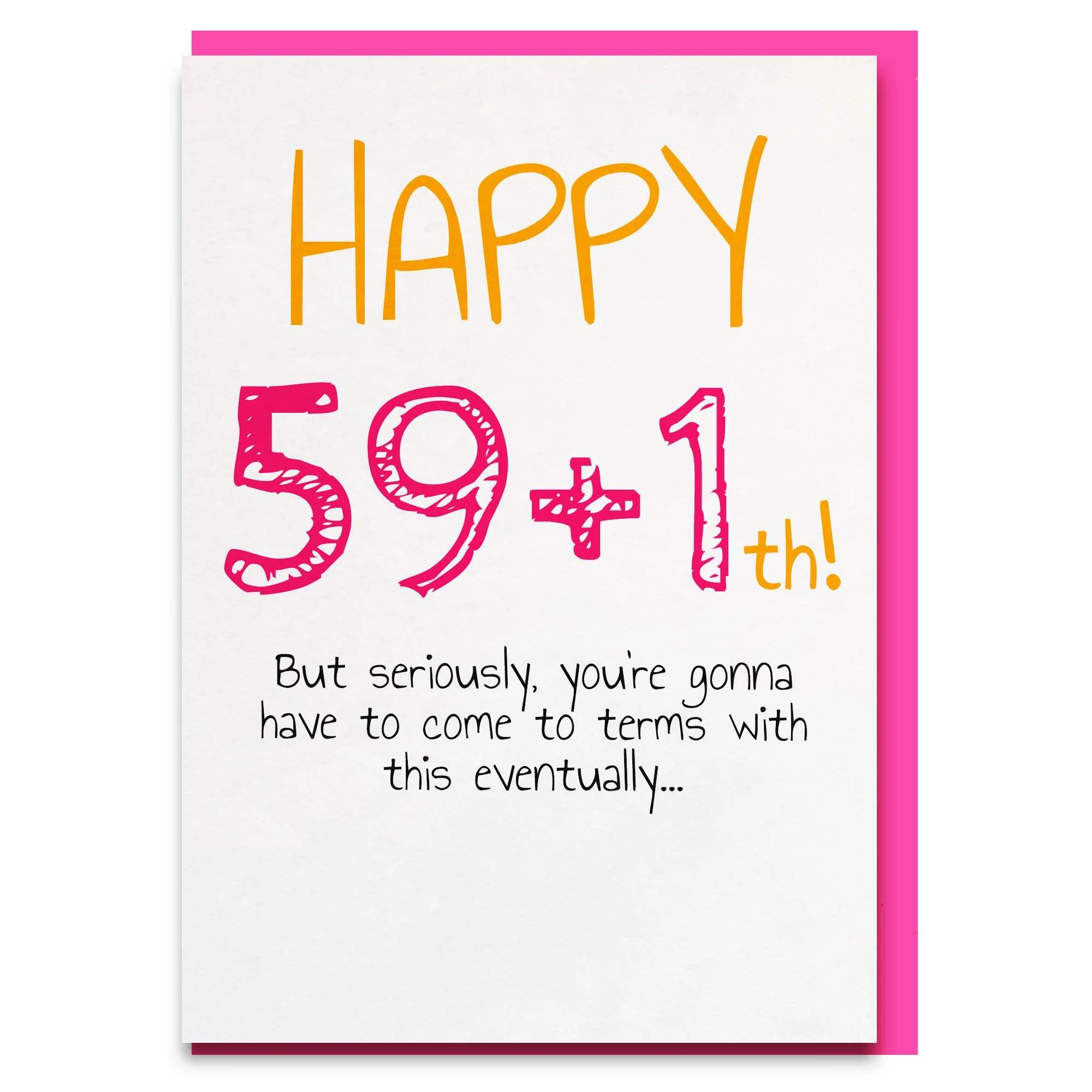 60th Birthday Funny Birthday Cards Mum 60th Dad 60th Funny Etsy