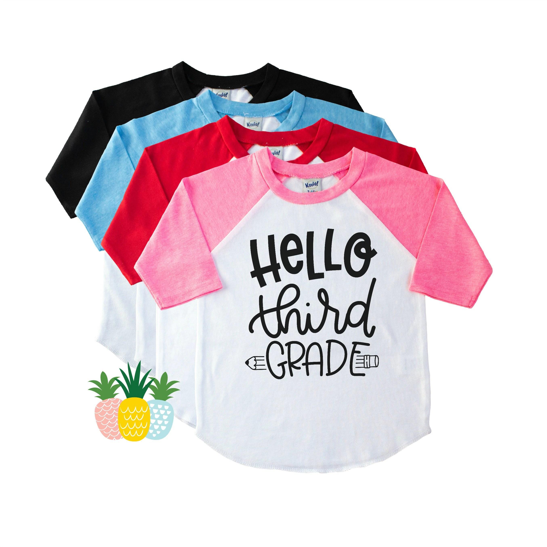 Hello Third Grade Back To School Shirt 3rd Grade Shirt