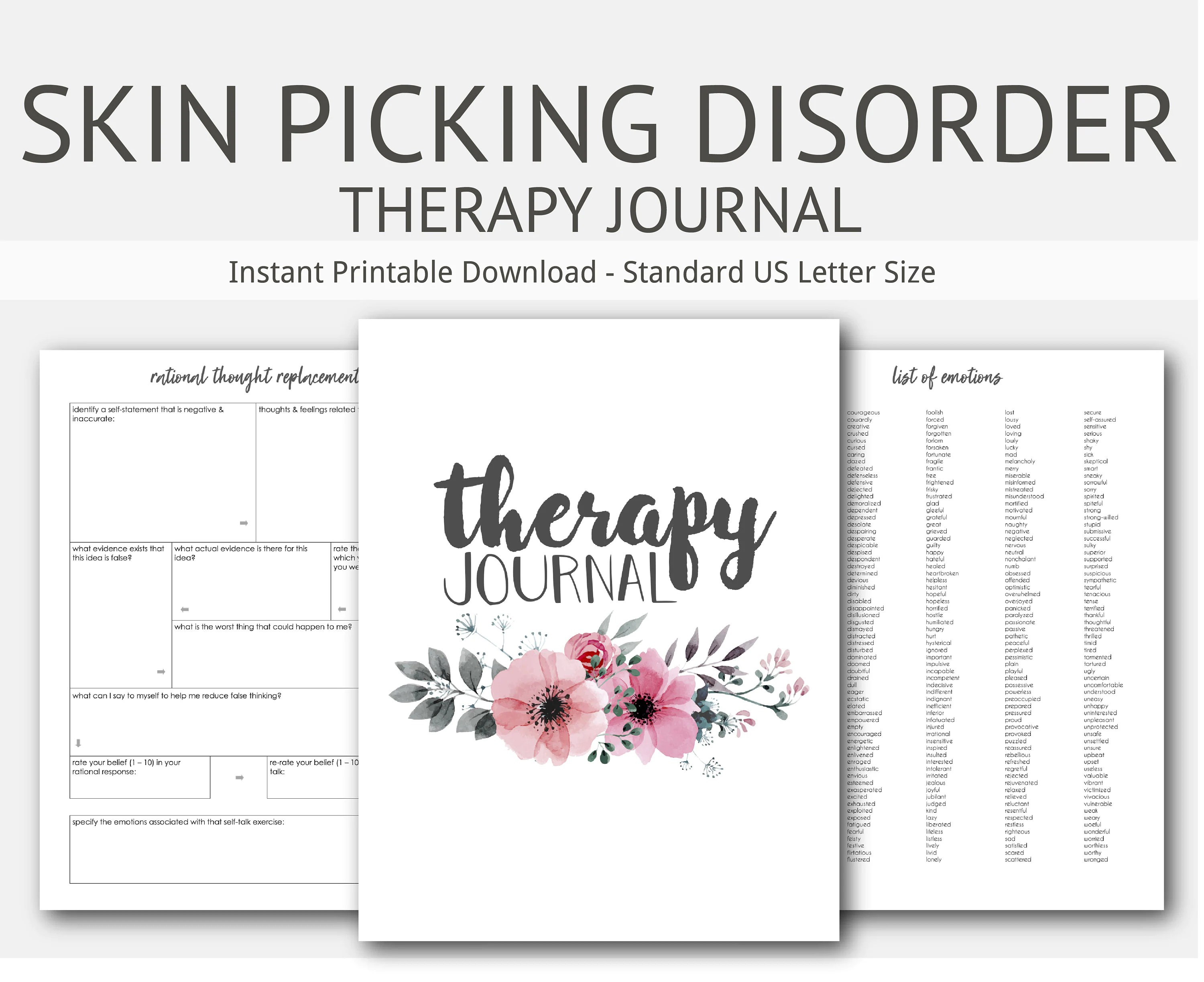 Compulsive Skin Picking Therapy Journal Mental Health