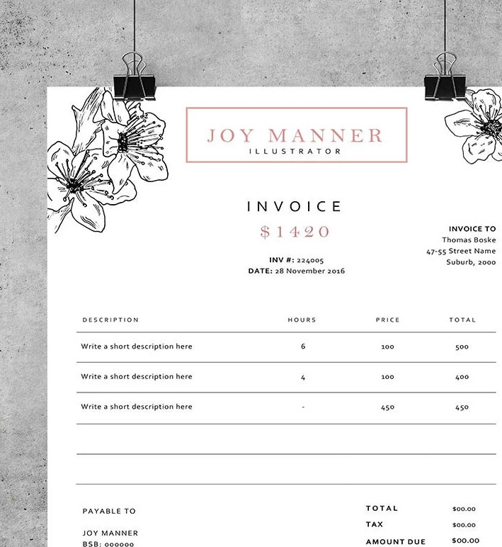 HD Decor Images » Invoice template Receipt template Invoice design   Etsy         zoom