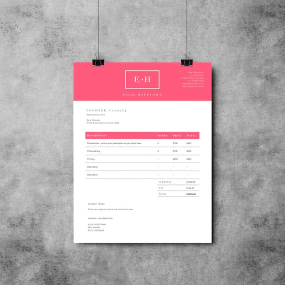 Invoice Template Design Receipt MS Word Invoice template