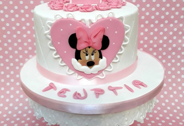 Minnie Mouse Fondant Edible 2d Cake Topper Set Baby Girl Etsy