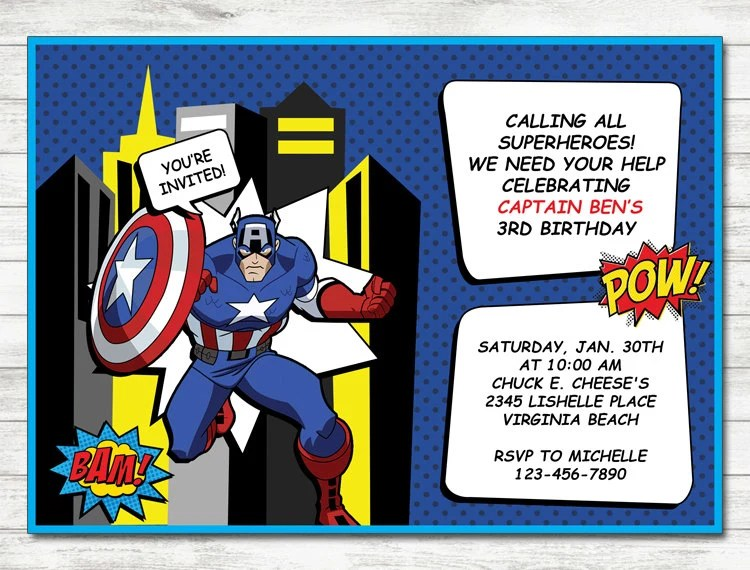 invitation de hulk hulk fete invitation