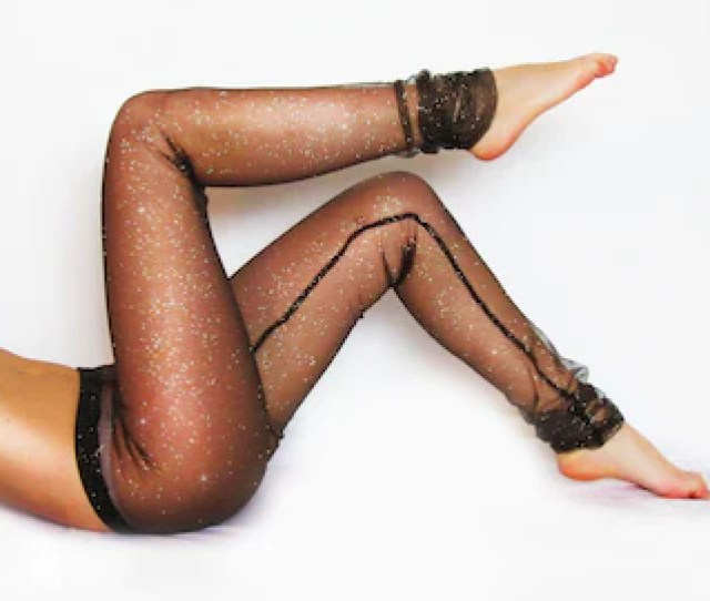 Black Mesh Glitter Sparkle Leggings Sexy Leggings Lace Tights Sheer Leggings Festival Attire See Through Pants Yoga Apparel
