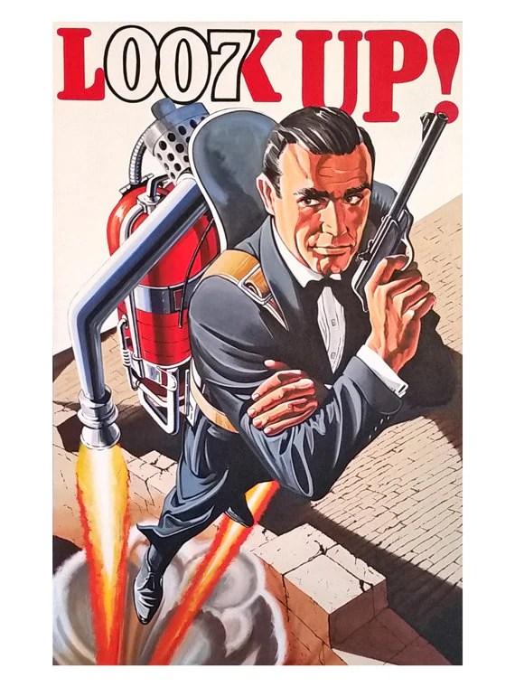 sean connery james bond 007 james bond art thunderball 12 x 16 art print suitable for framing gift for james bond fan unique gift