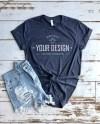 Heather Navy T Shirt Mock Up Bella Canvas T Shirt Mock Up Etsy