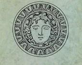 Sunburst Style Grecian Go...