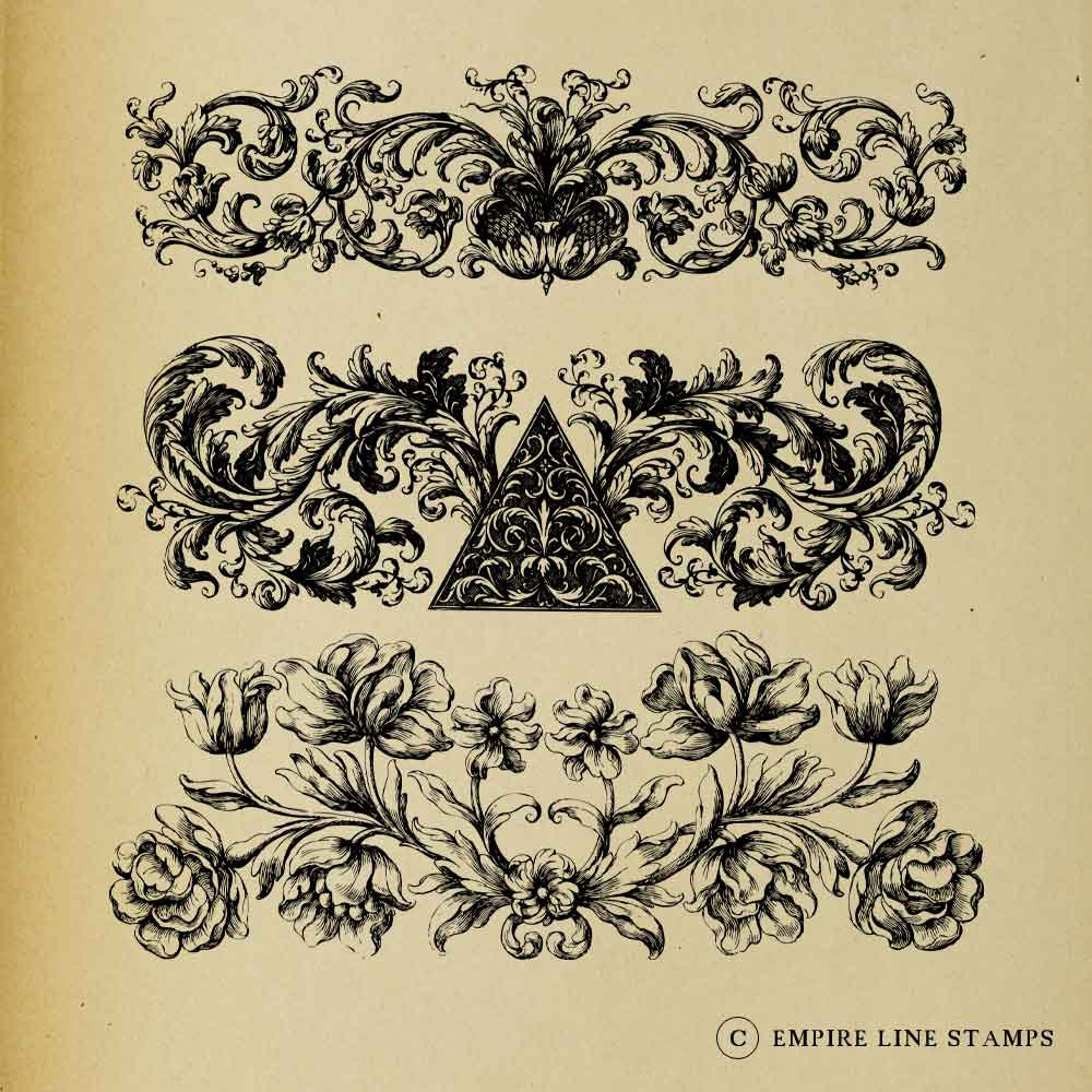 Thre Ornate Baroque Borde...