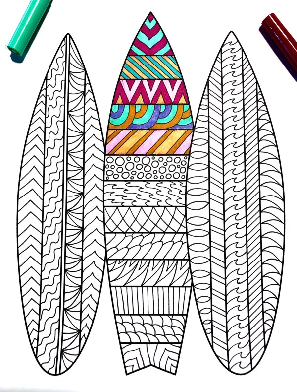 surfboard coloring page # 20