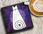 Cat Lover Gift Coaster: W...
