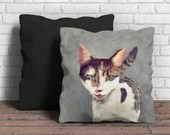 Cat Portrait Cushion: wat...