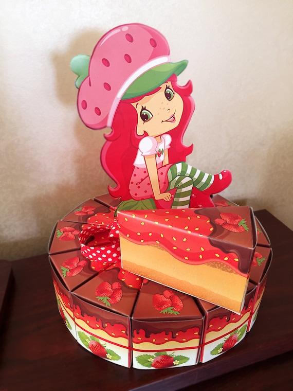 Strawberry Shortcake Birthday Cake Boxes Printable Strawberry Etsy