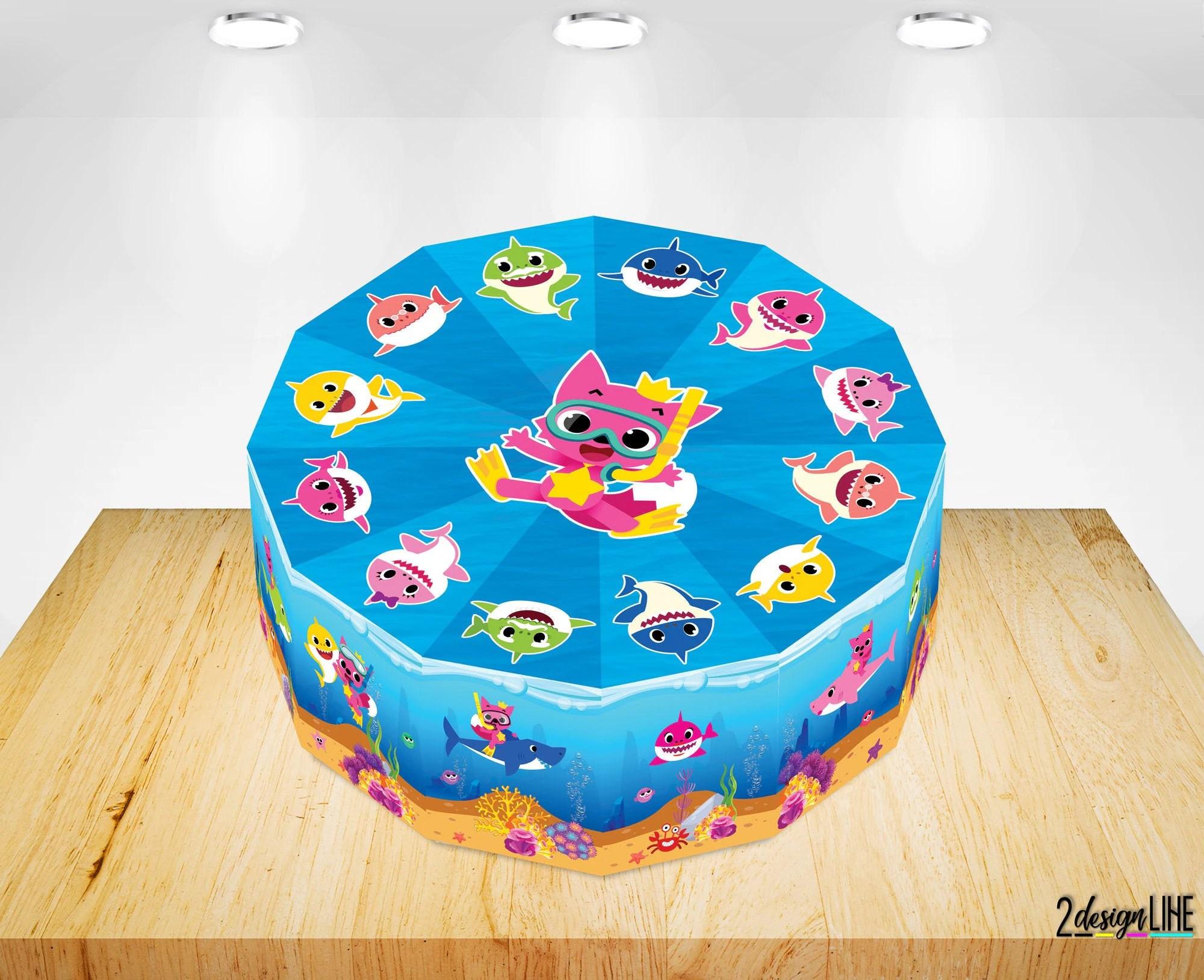 Baby Shark Birthday Cake Boxes Baby Shark Party Supplies Etsy