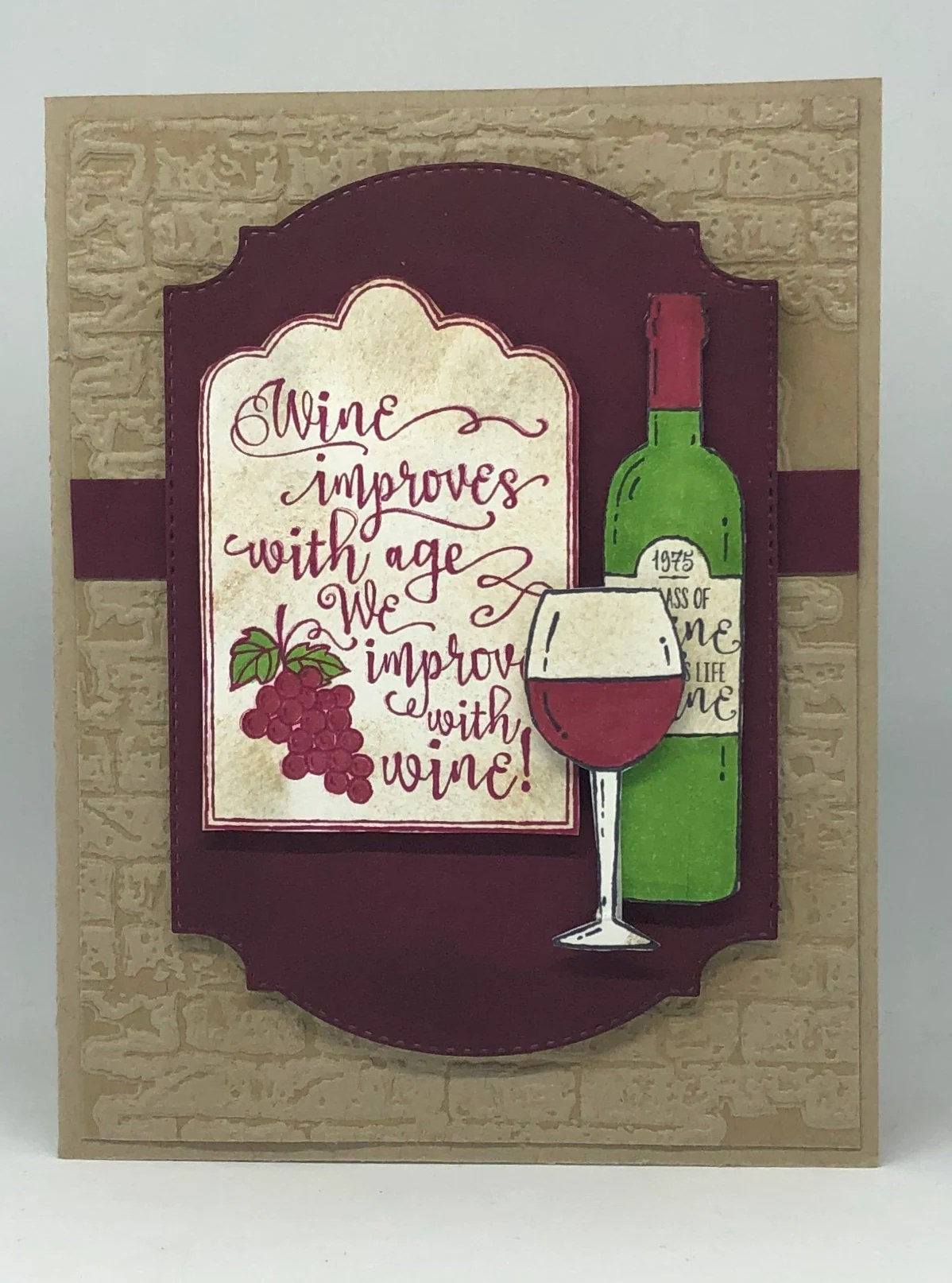 Wine Birthday Card Happy Birthday Wishes Fun Card For Her Etsy